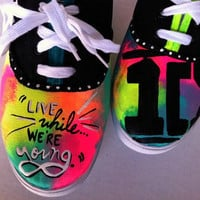 1D Live While We're Young inspired shoes by Music4TheSole on Etsy