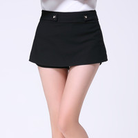 High Waist Mini A-Line Skirt