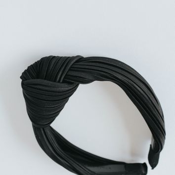 Ribbed Turban Headband (Black)