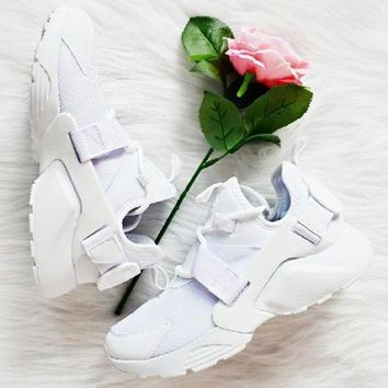 Nike Air Huarache 18 White Mesh And White Running Shoes