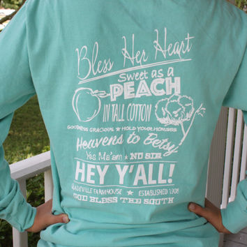 The Gladeville Farmhouse Southern Sayings Long Sleeve T-Shirt