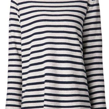 DCCKIN3 T By Alexander Wang striped french terry top