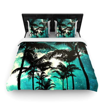 "Caleb Troy ""Palm Trees & Stars"" Queen Woven Duvet Cover - Outlet Item"
