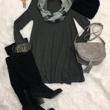 Easy Does it Dress: Charcoal