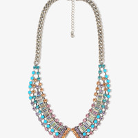 Colorful Rhinestone Collar Necklace