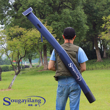 Sougayilang Waterproof Fishing Rod Bag Carrier 160cm Folding Fishing Rod Bag Case Fishing Gear Organizer Carp Fishing Bag Tackle