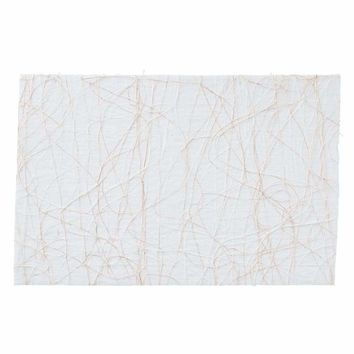Tangle Placemat in White & Gold - Set Of 12