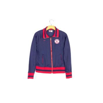 NIKE RED SOX track jacket / boston mlb official / retro baseball / classic / navy blue