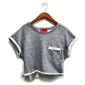 Jodi-Ann Semi Cropped Sweatshirt (Medium Heather Gray)
