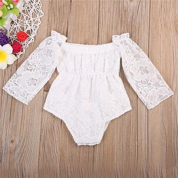Baby Girls Clothes Long Sleeve Baby Rompers Costume Lace Clothes For Girls Warm Snowsuit Jumpsuit