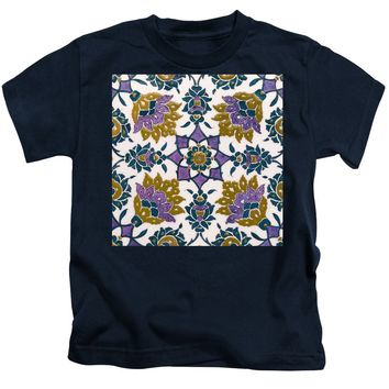An Ottoman Iznik Style Floral Design Pottery Polychrome, By Adam Asar, No 13g - Kids T-Shirt
