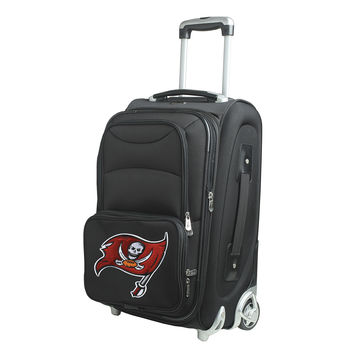 Tampa Bay Buccaneers  20'' Softsided Luggage Carry-on Rolling-Black
