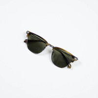 Oliver Peoples Pewter/Moss Tortoise Banks Sunglasses