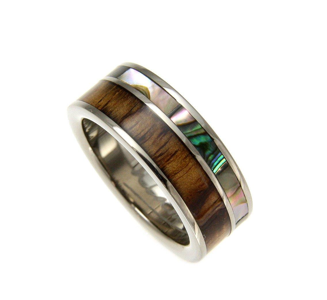 Stainless Steel Plain Wedding Band Ring 8mm Comfort Fit Sizes 6 Thru 14
