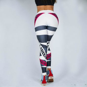 Letters Print Workout Women Sporting Leggings