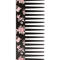 FOREVER 21 Rose Wide-Tooth Comb Black/Pink One