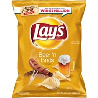 Lay's Beer 'N Brats Flavored Potato Chips, 9.5 oz - Walmart.com