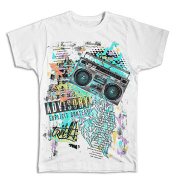 Fresh Prince Hip Hop Collage T-shirt | Trilla Streetwear Collection