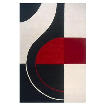 Modern 90s Abstract Area Rug