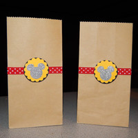 Mickey Mouse Party Bags, Set of 12 bags