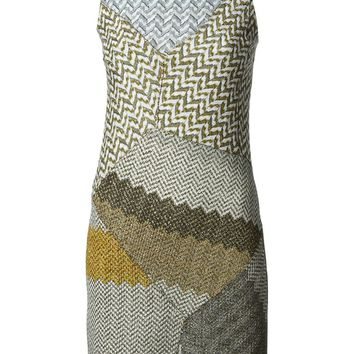 Missoni contrasting panels fitted knit dress