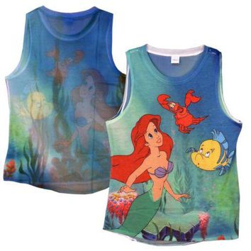 The Little Mermaid Ariel Sublimation Disney Junior Tank Top