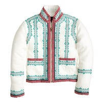 J.Crew Womens Collection Embroidered Linen Jacket