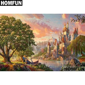 5D Diamond Painting Beauty and The Beast Castle Kit