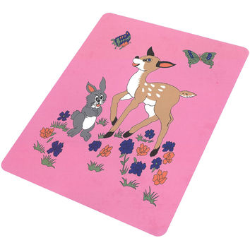 Deer with Bunny T122/BC-22 Pink 50x60 Blanket - Free Shipping in the Continental US!