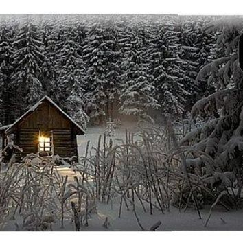 Cabin In Winter - Phone Case