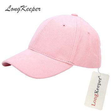 Fashion Ladies Suede Baseball Caps Women Snapback Caps Solid Autumn Winter Van Gorras Suede Hats Pink Gray Purple Blue Beige B80