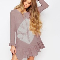 Jen's Pirate Booty Chantilly Drop Waist Mini Dress in Tie Dye
