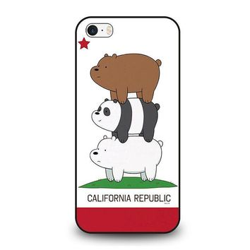 we bare bears california republic iphone se case cover  number 1