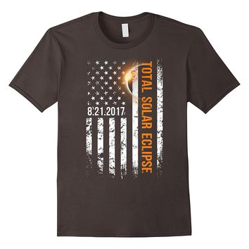 Total Solar Eclipse Shirt, American Flag 2017 T-Shirt