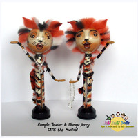 Mungo Jerry & Rumple teaser - Cats The Musical peg doll from FaBi DaBi Dolls