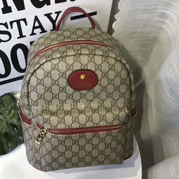 GUCCI counter section fashion trend wild leisure backpack F-AGG-CZDL red