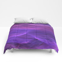 Pink and Purple Soft Waves Comforters by BluedarkArt