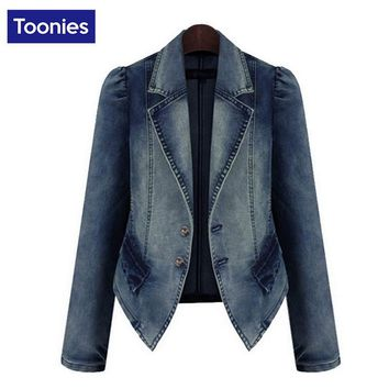 Large Size Vintage Women Denim Jackets Fashion American Style Female Basic Short Coats Jeans Jacket Feminina Casaca Mujer 5XL