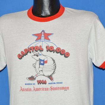 80s Capitol Armadillo 10K Ringer t-shirt Medium