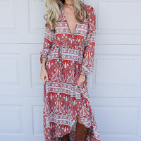 Colorado Rust Overwrap Maxi Dress