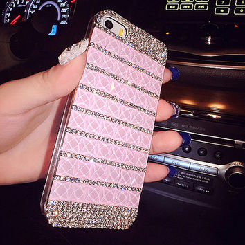 glitter pink rhinestone iPhone 6 case iPhone 6 plus case Bling iPhone 5  case iPhone 5s 717b7987f