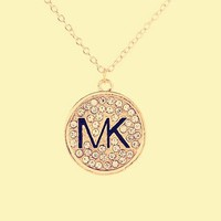 MK Michael Kors Round full diamond necklace