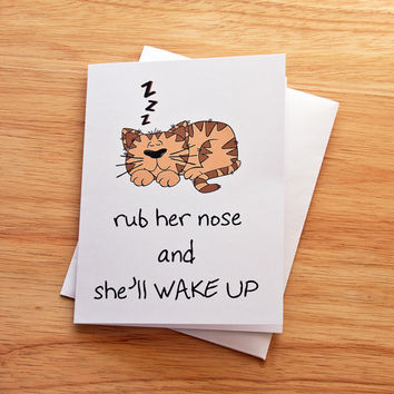 Boyfriend Gift, Naughty Card, Funny Love Card, Romantic, Card For Him, Dirty Card, Kitty Card, Foreplay, Sexy Card, Adult Card, Husband, Cat