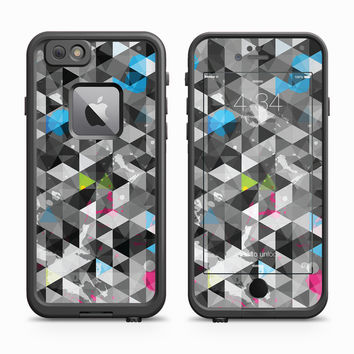 Black and White Qbert Geoprism Skin for the Apple iPhone LifeProof Fre Case