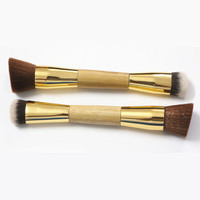 Makeup Contour Brush Bamboo Handle Foundation Eco-friendly Buffing Double-Sided | eBay