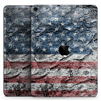 """Aged and Wrinkled American Flag - Full Body Skin Decal for the Apple iPad Pro 12.9"""", 11"""", 10.5"""", 9.7"""", Air or Mini (All Models Available)"""