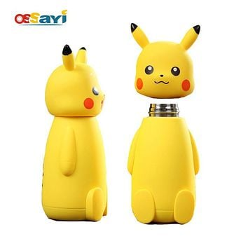 230ml  Pikachu Stainless Steel Vacuum Cup Thermo Mug Insulated Cartoon Vacuum Flasks Thermoses Travel Drink Water BottleKawaii Pokemon go  AT_89_9