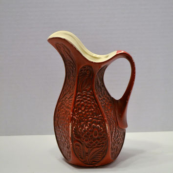 Vintage Red McCoy Pottery Vase 618 Retro PanchosPorch