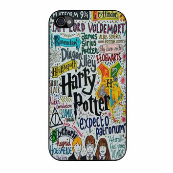 Harry Potter Expecto Patronum Quotes iPhone 4 Case