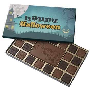 Spooky Haunted House Costume Night Sky Halloween Assorted Chocolates